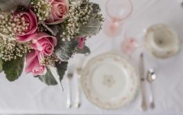 Antique pink rose classic bouquet