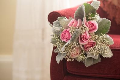 Burlington Wisconsin simple style wedding floral bouquet