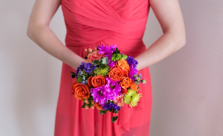 Coral wedding Waukesha wisconsin summer wedding